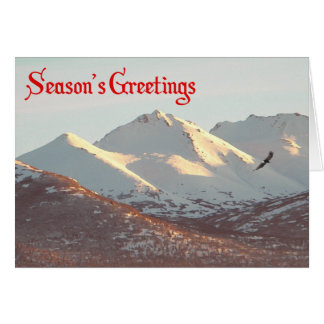 Season's Greetings - Winter Eagle Card
