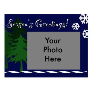Season's Greetings Winter Postcard