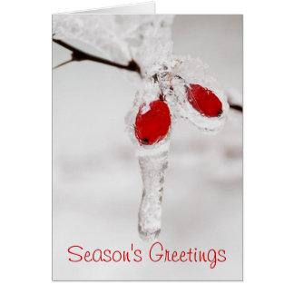 Season's Greetings Winter Scene Card