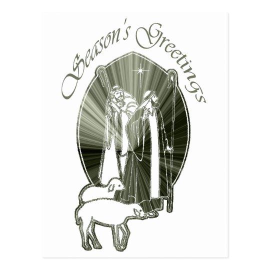Season's Greetings Wise Men Gifts Postcard