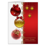Season's Greetings With Baubles Card