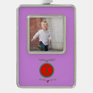 Seasons Greetings With Holly Christmas Ornament
