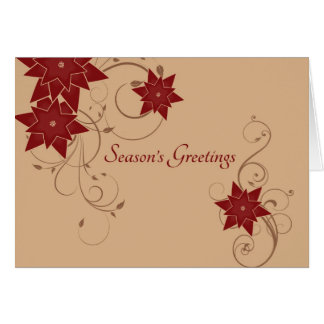 Season's Greetings with Pointsettia Card