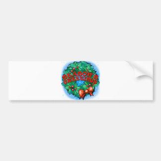 Season's Greetings Wreath Bumper Sticker
