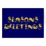 Seasons Greetings written in ponies! Card