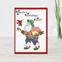 Season's Greetings Ya'll Holiday Card