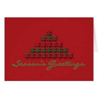 Season's Greetings year end cards, modern tree Card