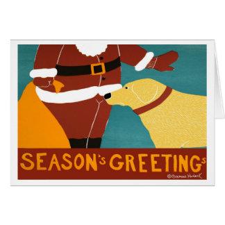 Seasons Greetings-Yellow Lab- Stephen Huneck Card