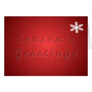Season's Greetins Card