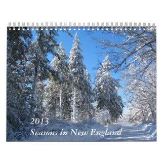 Seasons in New England 2013 ~ calendar