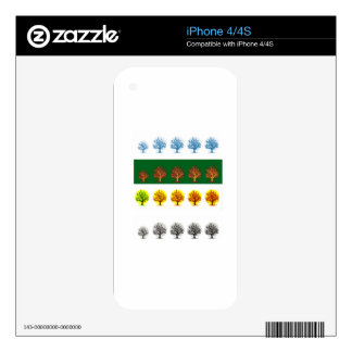 seasons iPhone 4S decals
