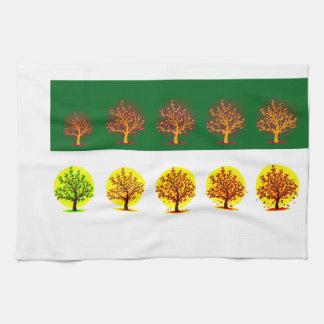 seasons kitchen towel