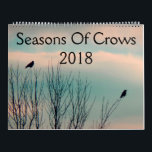 """Seasons Of Crows 2018 Calendar<br><div class=""""desc"""">A 12 month calendar of crows for the year 2018 made from my crow photographs.</div>"""
