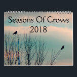 "Seasons Of Crows 2018 Calendar<br><div class=""desc"">A 12 month calendar of crows for the year 2018 made from my crow photographs.</div>"