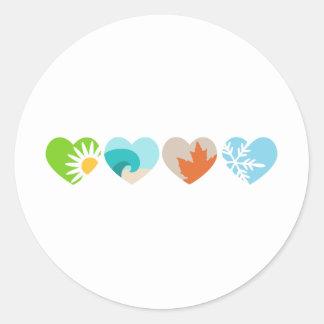 Seasons of Love Classic Round Sticker