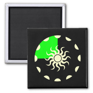 Seasons of the Sun Spring 2 Inch Square Magnet