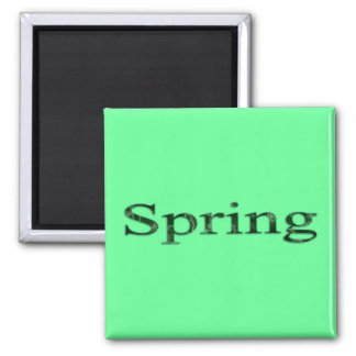 Seasons of the Year - Spring 2 Inch Square Magnet