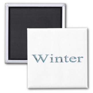 Seasons of the Year - Winter 2 Inch Square Magnet