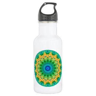 Seasons: Summer Yellow, Green, and Blue Mandala Water Bottle