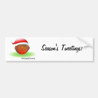 Season's tweetings Christmas Robin Bumper Sticker