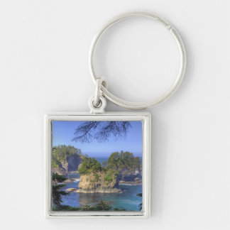 Seastacks, Makah Nation Tribal Lands, Cape Silver-Colored Square Keychain