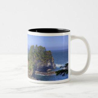 Seastacks, Makah Nation Tribal Lands, Cape Two-Tone Coffee Mug