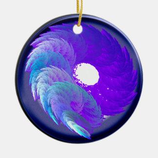 seaswirl ceramic ornament
