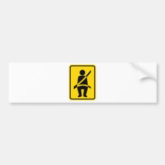 Seat belt Reminder Icon Bumper Sticker
