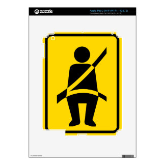Seat belt Reminder Icon Decal For iPad 3
