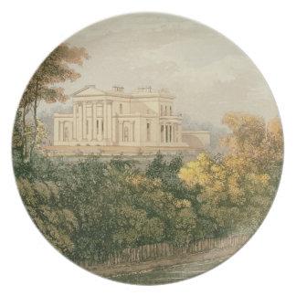 Seat de G.B. Greenough Esq., el parque del regente Plato De Cena