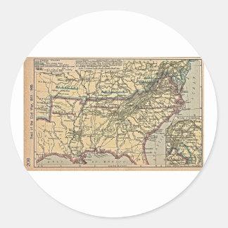 Seat de la guerra civil, 1861 - 1865 pegatina redonda