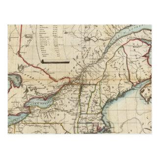 Seat de la guerra en Norteamérica Tarjetas Postales