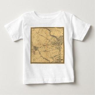 Seat del mapa septentrional de la guerra civil de playera de bebé