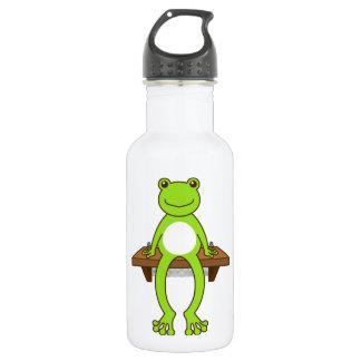 < Seat frog >Sitting frog 18oz Water Bottle
