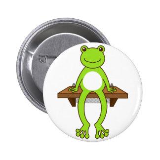 < Seat frog >Sitting frog Pinback Button