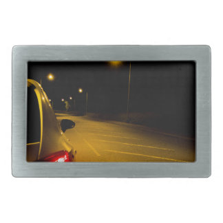 Seat Ibiza on the lonely road Rectangular Belt Buckle