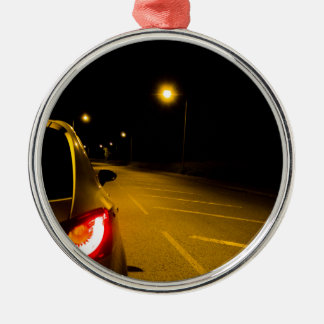 Seat Ibiza on the lonely road Metal Ornament