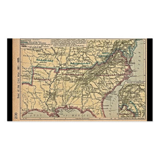 Seat of Civil War, 1861- 1865 Map Business Cards
