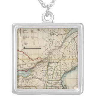 Seat of War in North America Silver Plated Necklace
