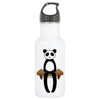 < Seat panda >Sitting panda 18oz Water Bottle