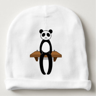 < Seat panda > Sitting panda Baby Beanie