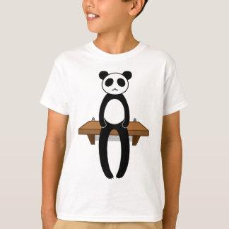 < Seat panda >Sitting panda T-Shirt