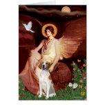 Seated Angel - American Fox Hound Greeting Card