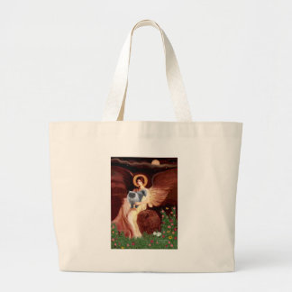 Seated Angel - Blue Smoke Persian cat Large Tote Bag