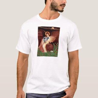 Seated Angel - Blue Smoke Persian cat T-Shirt