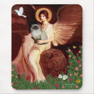 Seated Angel - Himalayan cat 7 Mouse Pad