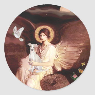 Seated Angel - Italian Greyhound 7 Classic Round Sticker