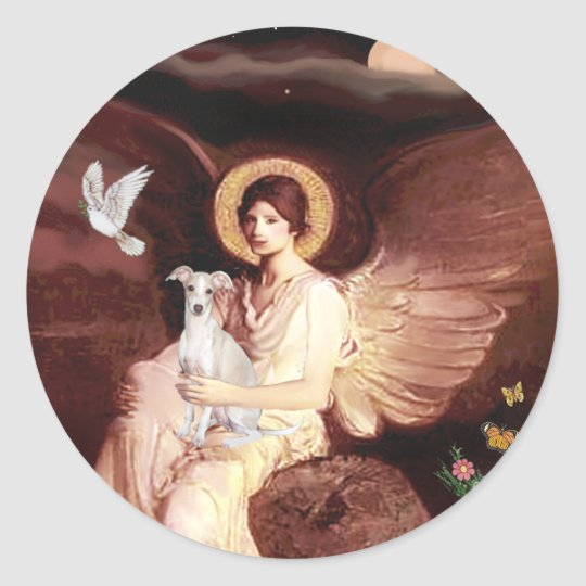 Seated Angel - Italian Greyhound 7 Classic Round Sticker