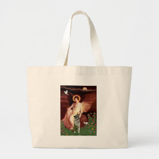Seated Angel - Norwegian Elkhound Jumbo Tote Bag