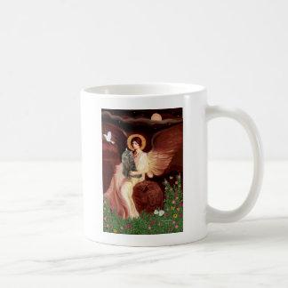 Seated Angel - Norwegian Forest Cat Coffee Mug